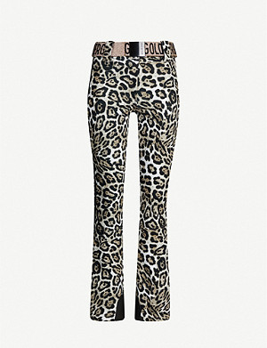 GOLDBERGH Roar leopard print shell ski trousers