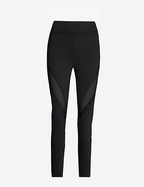 MICHI Inversion cropped high-rise mesh-panel leggings