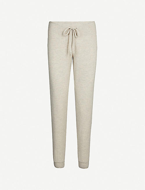 BEYOND YOGA Hacci straight stretch-modal jogging bottoms