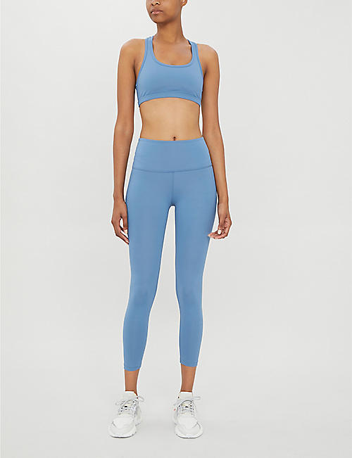 BEYOND YOGA Sportflex cropped stretch-jersey sports leggings