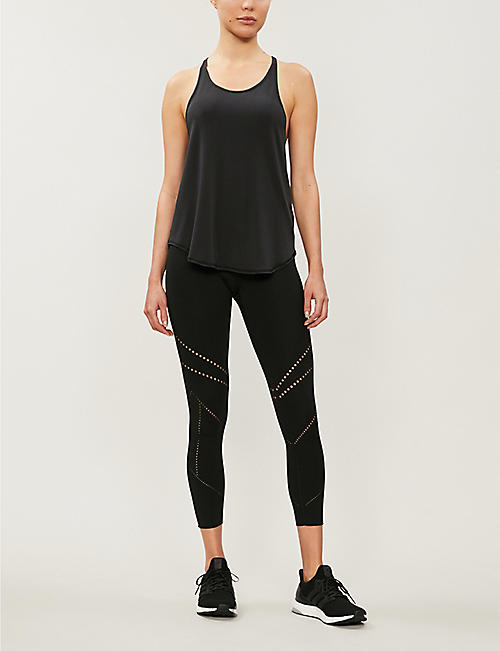 NIMBLE Sporty Bind racer-back stretch-jersey vest top