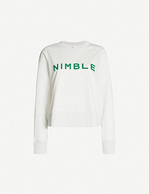 NIMBLE Logo-embroidered jersey sweatshirt