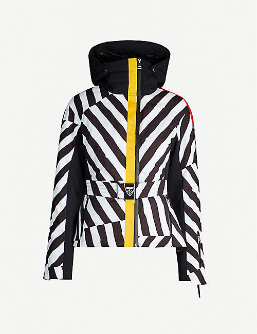 ROSSIGNOL Skifi striped shell-down jacket