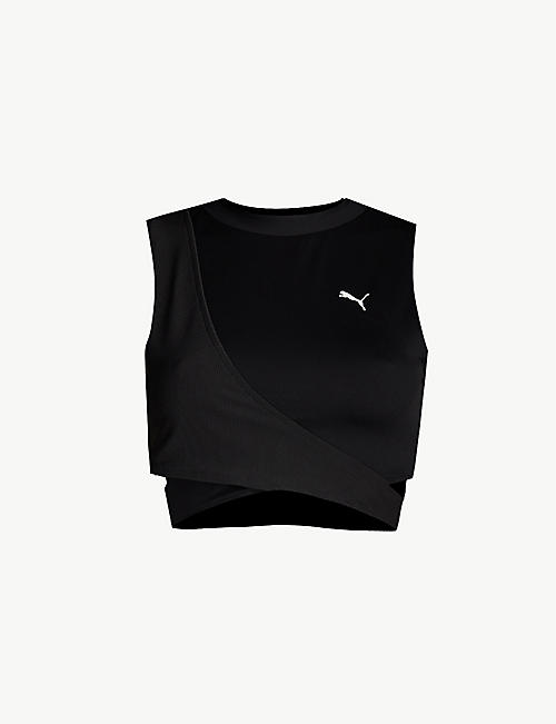 PUMA Chase crossover stretch crop top