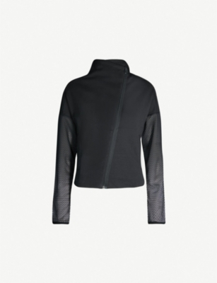 ADIDAS PERFORMANCE Mesh-panel stretch-jersey jacket