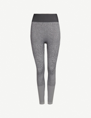 ADIDAS PERFORMANCE Believe This melange-print stretch-jersey leggings