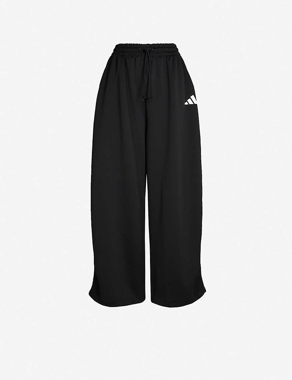 ADIDAS PERFORMANCE: Wide-leg cotton-jersey jogging bottoms