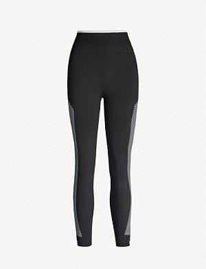 ADIDAS PERFORMANCE Primeknit Flow contouring-panel stretch-knit leggings