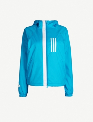 ADIDAS PERFORMANCE W.N.D. fleece-lined shell jacket