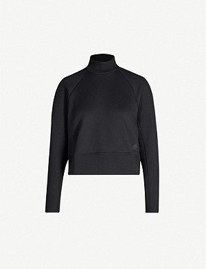ADIDAS PERFORMANCE VRCT cropped cotton-jersey sweatshirt