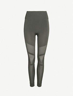 ADIDAS PERFORMANCE High-rise stretch-woven leggings