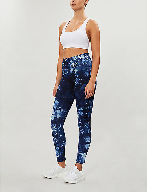ADIDAS PERFORMANCE Parley Believe This abstract-print 7/8 stretch-jersey leggings