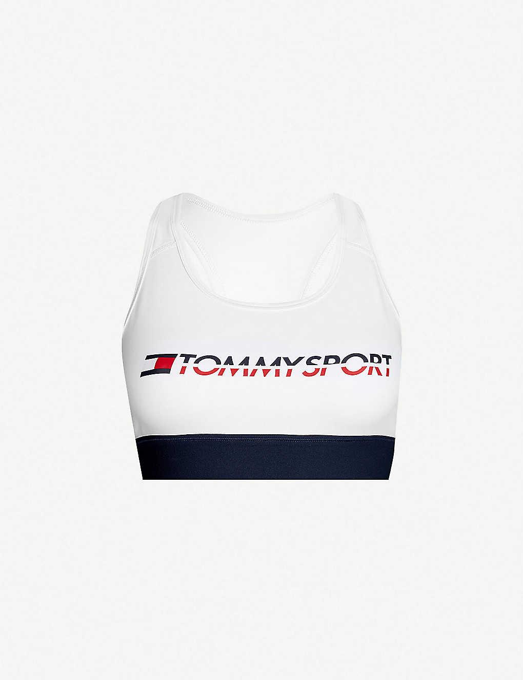 03f55c5d TOMMY HILFIGER - Logo-print stretch-jersey sports bra | Selfridges.com