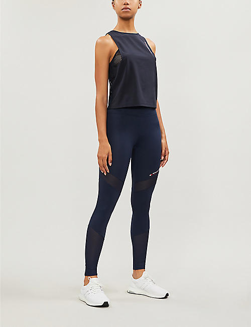 TOMMY SPORT Logo-print stretch-jersey leggings