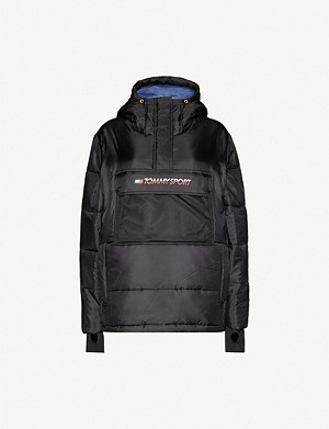 TOMMY SPORT Padded logo-print shell jacket