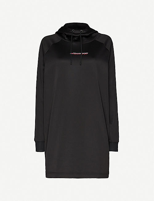 TOMMY SPORT Logo-print hooded stretch-jersey dress