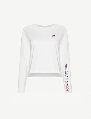 TOMMY SPORT Long-sleeved cotton-blend T-shirt