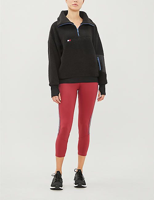 TOMMY SPORT Zip-detail pull-over fleece jumper
