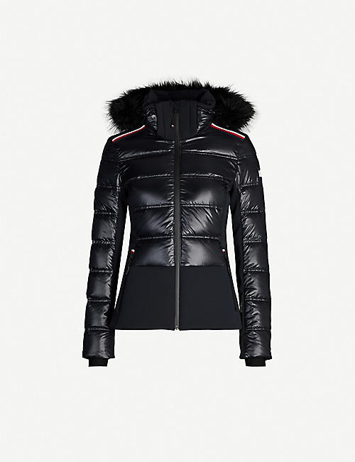 TOMMY X ROSSIGNOL Logo-embellished shell-down ski jacket