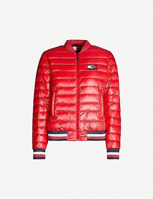 TOMMY X ROSSIGNOL Striped-trim quilted shell-down jacket