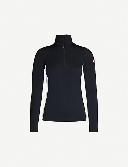 TOMMY X ROSSIGNOL Baselayer half-zip stretch-woven top