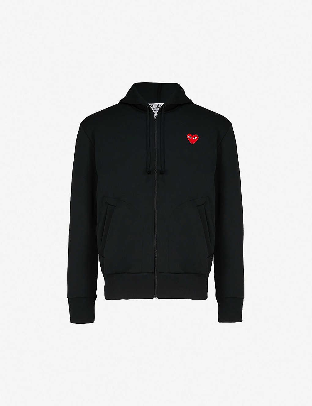 25d912774 COMME DES GARCONS PLAY - Play heart logo jersey hoody   Selfridges.com