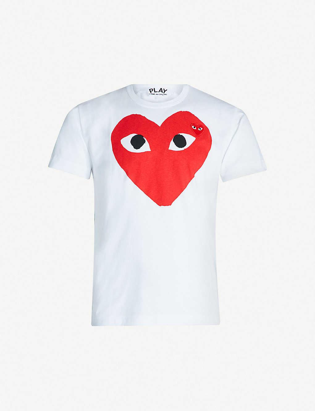 a3369ced15606 COMME DES GARCONS PLAY - Heart logo cotton-jersey T-shirt ...