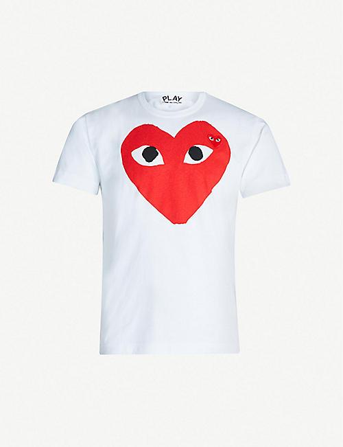 ca1e6a0218af COMME DES GARCONS PLAY Heart logo cotton-jersey T-shirt