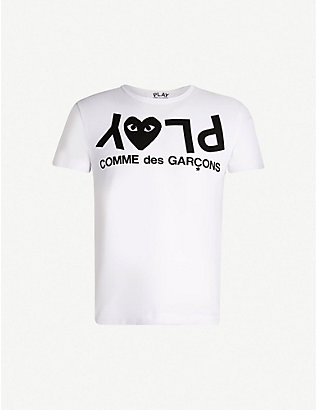 COMME DES GARCONS PLAY: Logo-print cotton-jersey T-shirt