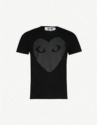 COMME DES GARCONS PLAY: Heart logo t-shirt