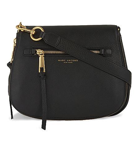 ce4c622dc17 MARC JACOBS Recruit leather saddle bag (Black