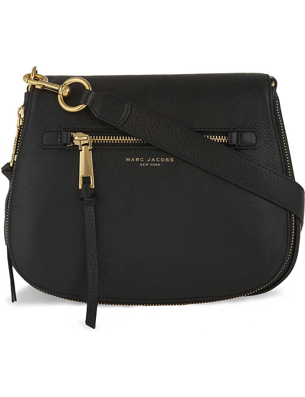 9dabd625982 MARC JACOBS - Recruit leather saddle bag | Selfridges.com