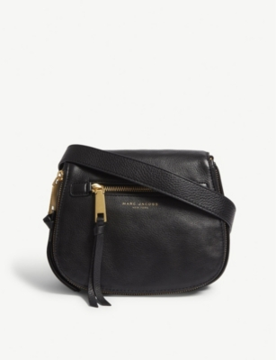 MARC JACOBS Recruit small grained leather saddle bag