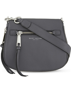 5be6622d5be MARC JACOBS - Recruit small grained leather saddle bag