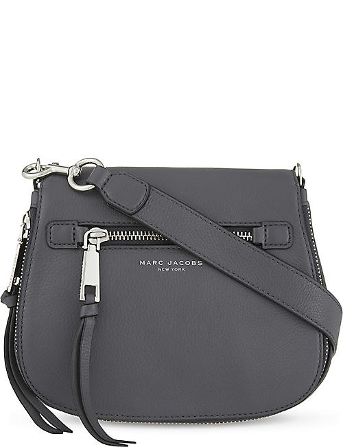 2091b50783 MARC JACOBS Recruit small grained leather saddle bag
