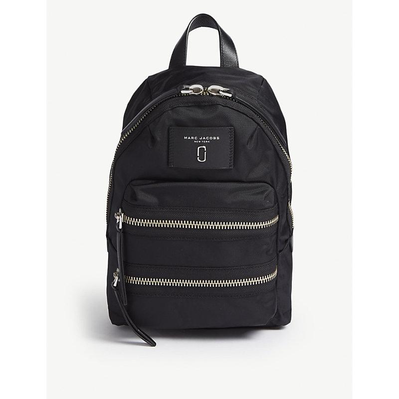 MARC JACOBS | Marc Jacobs Ladies Black Biker Nylon Backpack, Size: Mini | Goxip