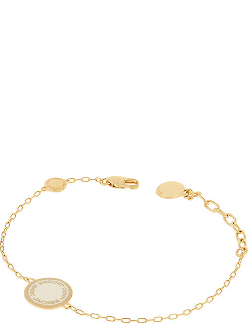 Fashion Jewelry Marc By Marc Jacobs Tiny Friendship Bracelet Charms Cord Teal Brass Gold Tone Beautiful And Charming