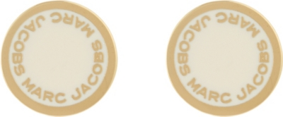 MARC JACOBS Logo pendant stud earrings