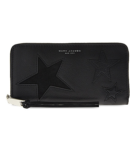 a09c35a88190 MARC JACOBS Star patchwork leather continental purse (Black+multi