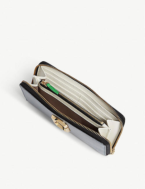MARC JACOBS Snapshot Saffiano leather zip-around wallet