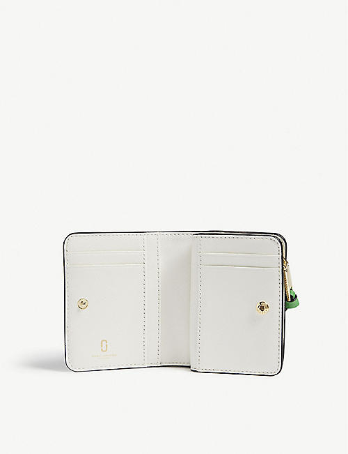 MARC JACOBS Snapshot mini Saffiano leather purse