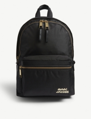 MARC JACOBS Branded canvas backpack