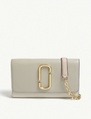 MARC JACOBS Snapshot leather wallet-on-chain
