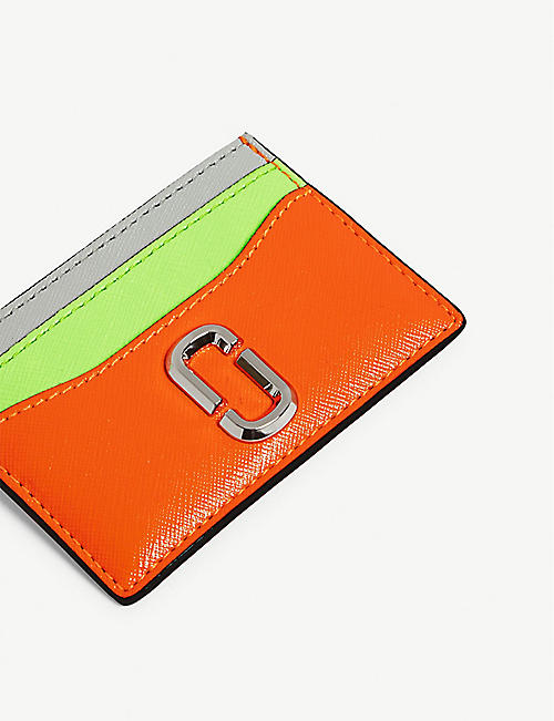 MARC JACOBS Snapshot leather card holder