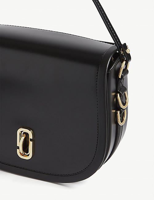 MARC JACOBS Semi-circle leather saddle shoulder bag