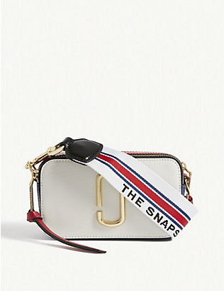 MARC JACOBS: Snapshot leather cross-body bag