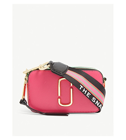 Marc Jacobs Snapshot Small Camera Fuchsia Cross Body Bag In Diva Pink Multi