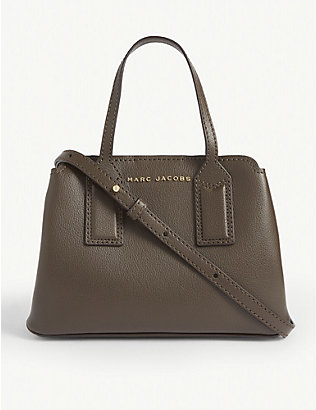MARC JACOBS: Editor leather cross-body bag