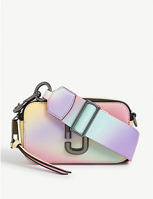MARC JACOBS: Snapshot airbush-effect leather cross-body bag
