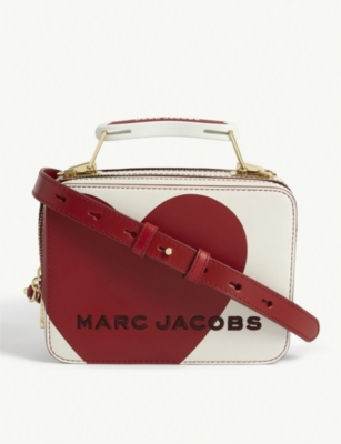MARC JACOBS The Heart mini leather box bag
